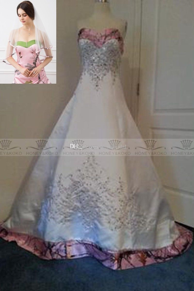 978f4f32b51 S l1600. S l1600. Previous. Pink Camo Wedding Dresses Formal Embroidery Camouflage  Bridal Gowns ...