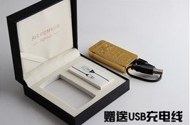 Gold Lion Creative Windproof USB Charging Pulse Arc Metal Electronic Cigarett... image 3