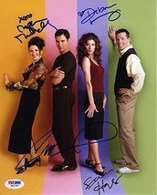 Will & Grace Cast by 4 Signed 8x10 Photo Certified Authentic PSA/DNA COA - $494.99