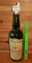 Ambassador Deluxe Scotch Whisky XL 1/2 Galloni Bottle Vintage Sughero pe... - $98.00