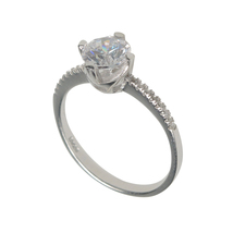 Aura 925 Sterling Silver White Cubic Zirconia Ring (SR01678W-CZ-7) - £17.04 GBP