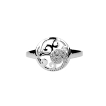 Aura 925 Sterling Silver White Cubic Zirconia Ring (SR01651W-CZ-7) - £17.04 GBP