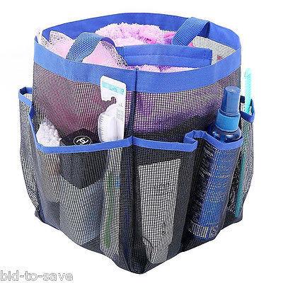 Shower Caddy Tote Toiletry Gym Beach Pool Dorm Baby Diaper Bag Makeup Bath Mesh