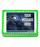 Seattle SEAHAWKS football edible cake image topper decoration frosting s... - $9.99