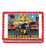 FIREMAN SAM edible cake image cake topper frosting sheet - $9.99