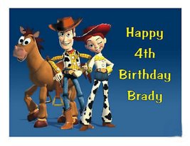 Jessie & Woody cake image cake topper - $9.99