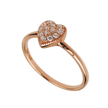 Aura 925 Sterling Silver White CZ Ring with Rose Gold Plated (SR01633W-C... - £17.41 GBP