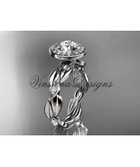 platinum leaf and vine engagement ring VD10076 - $2,725.00