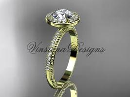 """14k yellow gold engagement ring """"Forever One"""" Moissanite VD10077 - $1,400.00"""