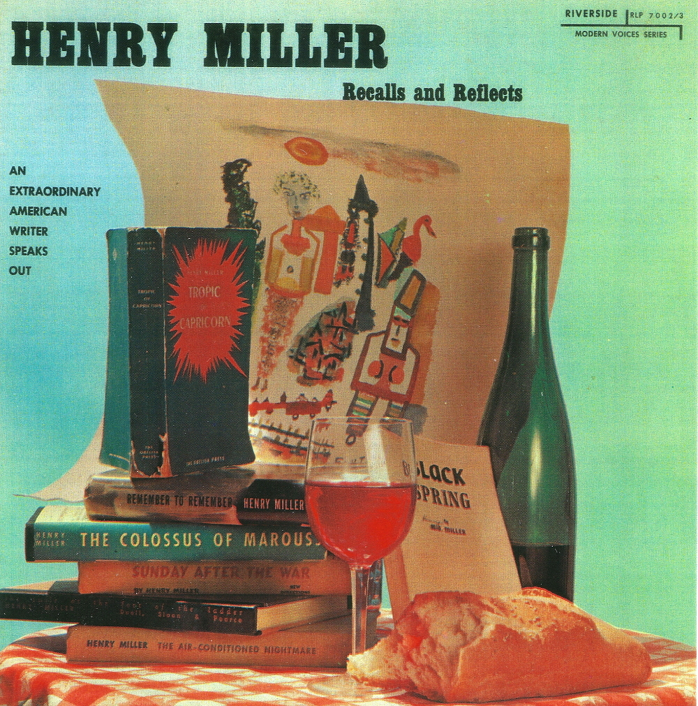 Henry miller recalls   reflects front cover print this one only