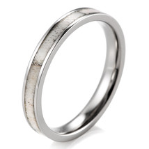 Women's 3mm Titanium Wild Antler Wedding Ring  - $24.98
