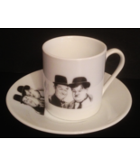 LAUREL AND HARDY ESPRESSO CUP AND SAUCER  - $20.00