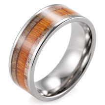 9mm Mens Wedding Ring Titanium Koa with Antler ... - $35.98