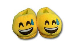Cold Sweat Unisex Emoji Plush Home Indoor Pair Slippers Soft Comfy Shoes - $8.99