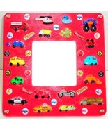 Boys Red Transportation Handmade Wood Picture F... - $3.95
