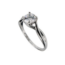 Aura 925 Sterling Silver White Cubic Zirconia Ring (SR01092W-CZ-7) - £14.81 GBP