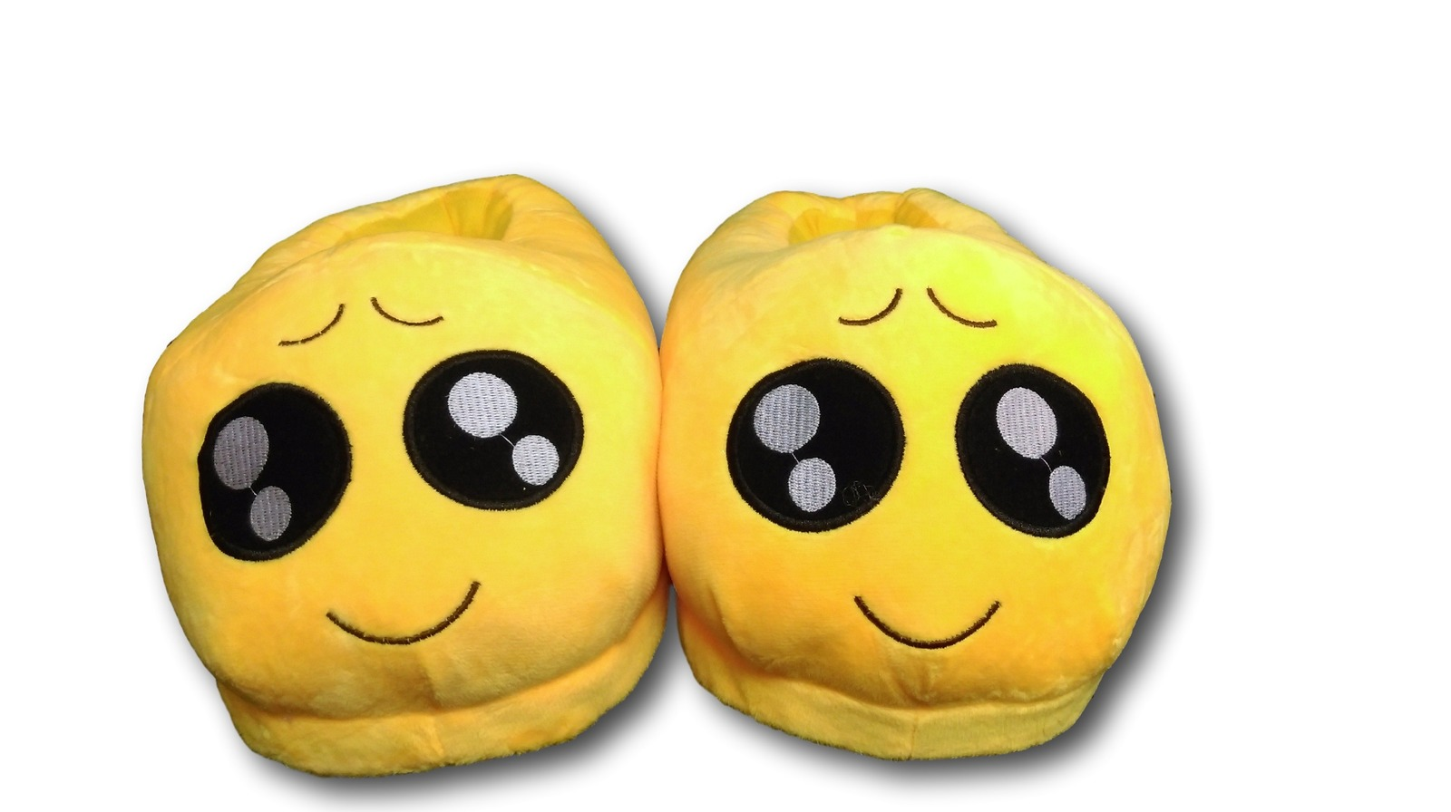 Primary image for Big Eyes Unisex Emoji Plush Home Indoor Pair Slippers Soft Comfy Shoes