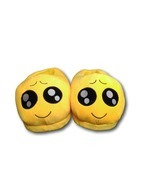 Big Eyes Unisex Emoji Plush Home Indoor Pair Slippers Soft Comfy Shoes - $11.21 CAD