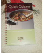 Duromatic Pressure Cookers Quick Cuisine Kuhn Rikon booklet 2006 manual - $24.00