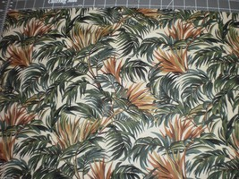 "Celebrating Style Hemingway RJR Fabrics 34 1/2"" Long Brown Green Ferns - $17.95"