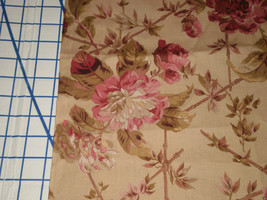 "Robyn Pandolph rjr fabrics Lansdowne Road Floral Large roses 53"" Long oop - $25.00"