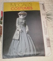 McCall's costume M4697 Civil War Era Pattern Coat Skirt Shawl SZ 6-12 uncut - $24.95