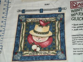 Winter Winds Warm Friends Flannel Panel uncut Beth Yarbrough Daisy Kingdom - $17.95