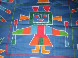"Southwest Folk Art Style Fabric Native Petroglyph Hoffman California 35""... - $17.95"