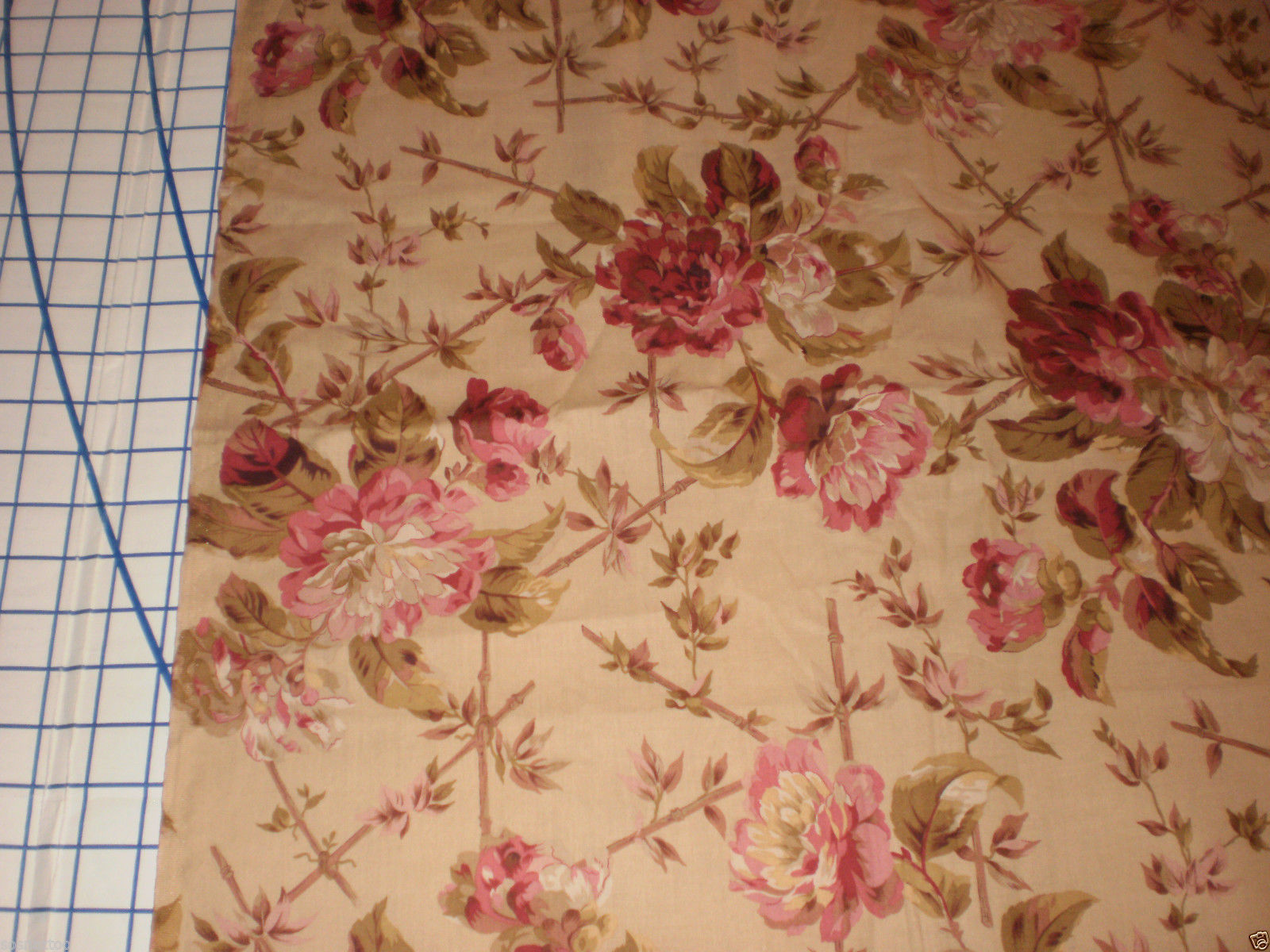 "Robyn Pandolph rjr fabrics Lansdowne Road Floral Large roses 53"" Long oop"