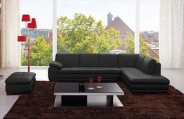 J&M 625 Black Full Top Grain Leather Italian Sectional Sofa Modern Right - €2.853,12 EUR