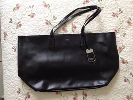 NWT Genuine LAUREN Big Ralph Lauren Handbag Beautiful Color Black w Silv... - $74.43