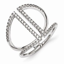 STERLING SILVER & CZ MODERN / CONTEMPORARY RING - SIZE 7 - $63.04