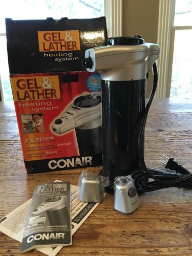 CONAIR Hot Gel and Lather HGL1 Shaving Cream Warmer Heating System NIB Shave