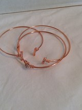 Macys brand rose gold tone and pave crystal bangle set  #1445 - $8.59