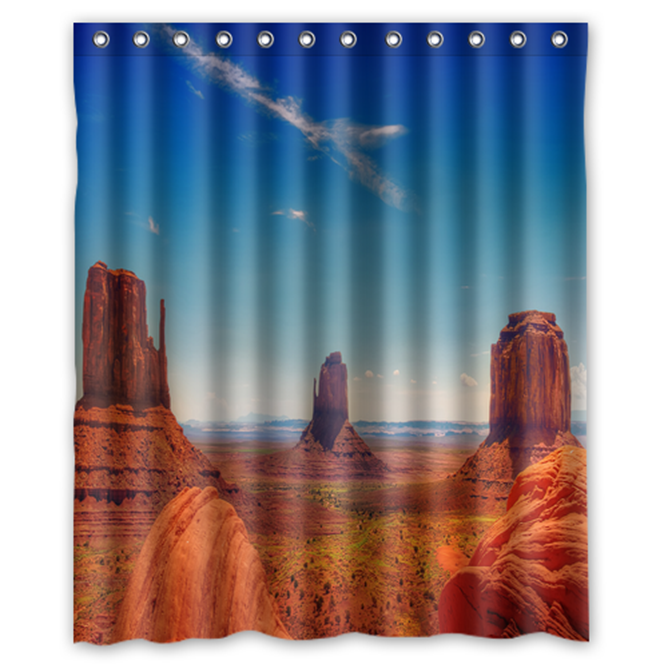 Monument Valley Usa #01 Shower Curtain Waterproof Made From Polyester