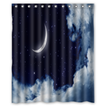 Moonlight Moon Night Nature #01 Shower Curtain Waterproof Made From Poly... - $31.26+