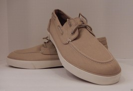 GENUINE POLO RALPH LAUREN SIZE 16D TAN CANVAS FASHION SNEAKER BOAT SHOW ... - $48.50