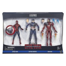 Captain America Civil War Marvel Legends Action Figure 3-Pack by Hasbro - $64.95