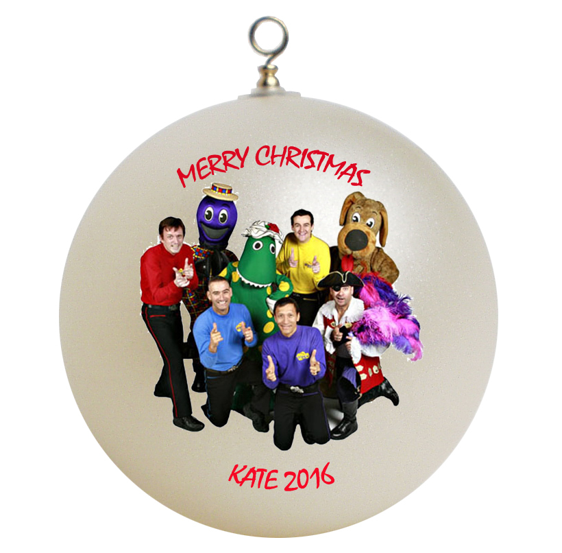 Personalized the wiggles christmas ornament gift ornaments