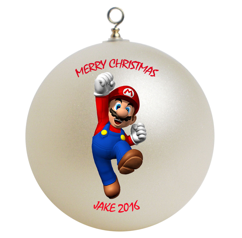 Personalized Super Mario Christmas Ornament Gift