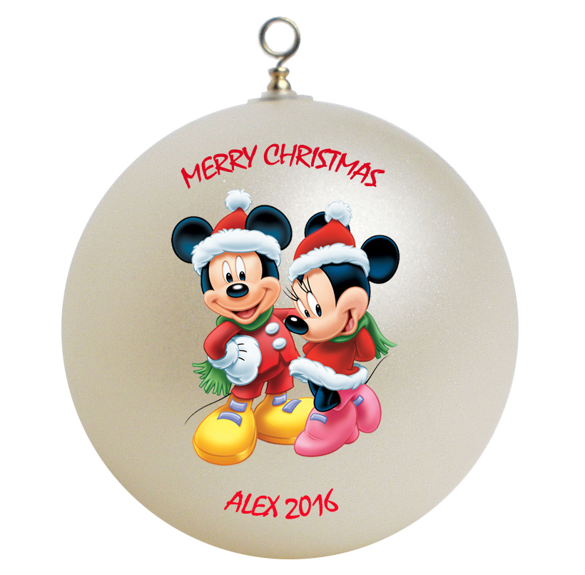 Personalized mickey mouse and minnie mouse christmas - Minnie mouse noel ...