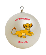 Personalized Lion King Simba Christmas Ornament Gift - $16.95