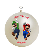 Personalized Super Mario Luigi Brothers Christmas Ornament Gift - $16.95