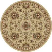 8' Round Traditional Oriental Persian Beige Are... - $199.00