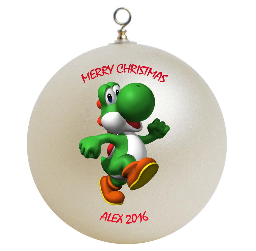 Personalized Super Mario Yoshi Christmas Ornament Gift