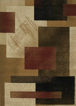 "8x11 (7'10"" x 10'6"") Modern Contemporary Geometric Blocks Rust Black Are... - $249.00"