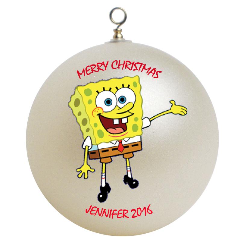 Personalized Spongebob Squarepants Christmas Ornament Gift ...