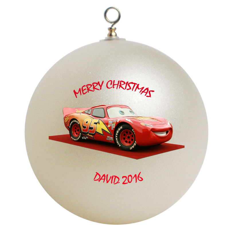 Personalized Cars Lightning McQueen Christmas Ornament Gift