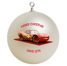 Personalized Cars Lightning McQueen Christmas Ornament Gift - $16.95