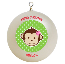 Personalized Mod Monkey Christmas Ornament Gift #2 - $24.95
